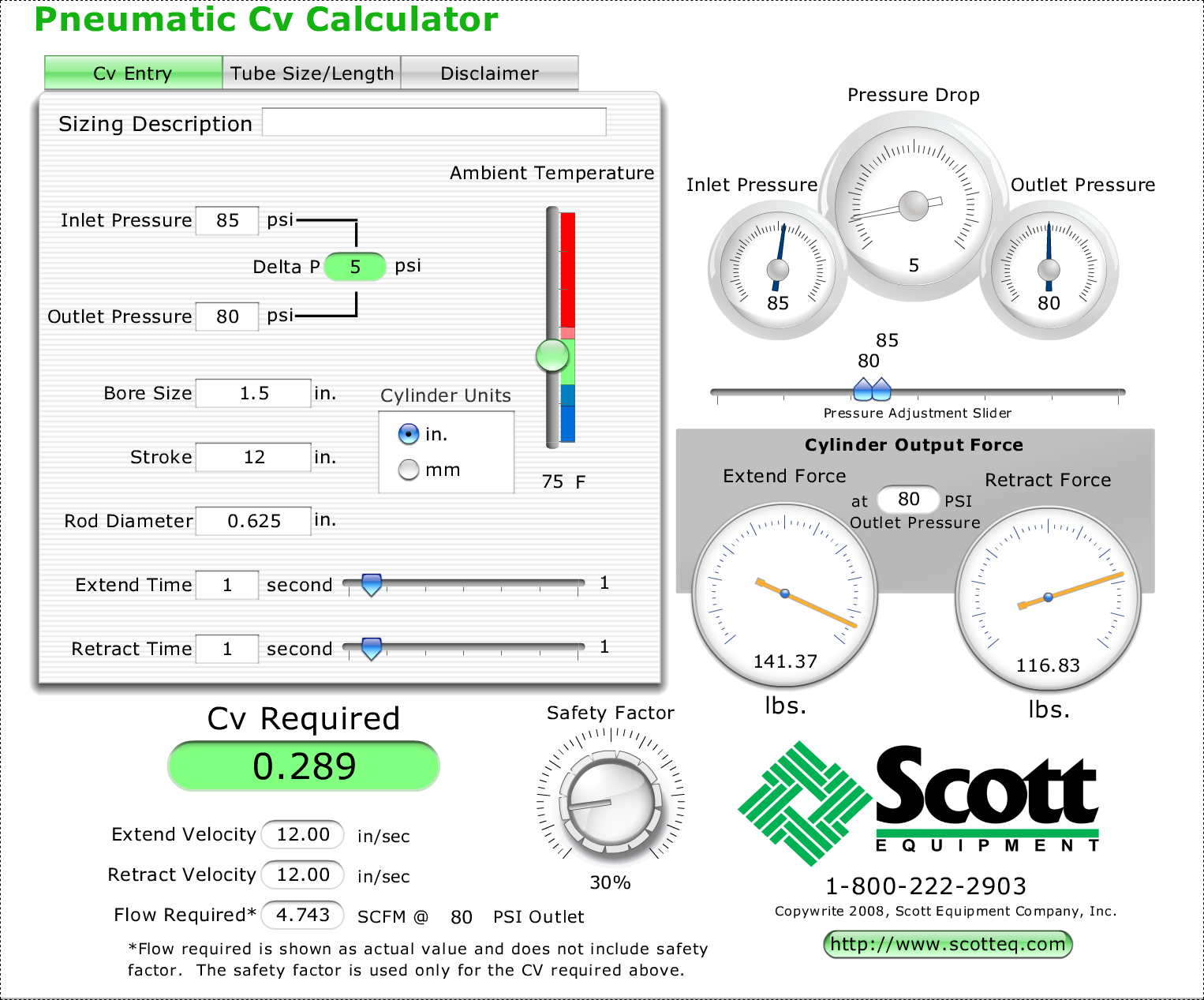 Scott Equipment Company Cv Calculator