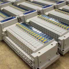 SMC SY3000 Manifolds with EX260 EthernetIP Bus Heads.